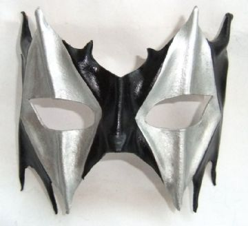 Genuine Handmade Leather Harlequin half Mask